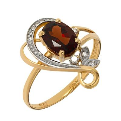 Золотое кольцо Ювелирное изделие A11338597.17 магия золота женское золотое кольцо с аметистами и куб циркониями mg81293am z 17 5
