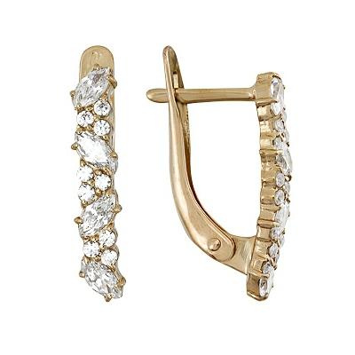 Золотые серьги Ювелирное изделие A1200012062 ювелирные серьги маркиз серьги колечки