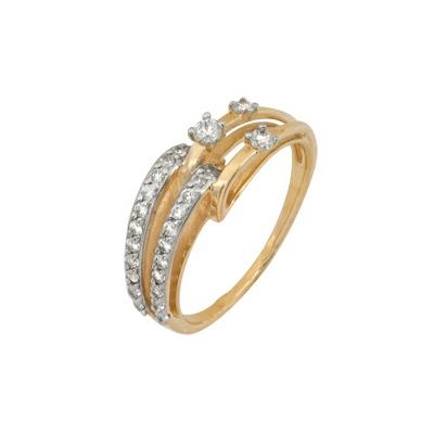 Золотое кольцо Ювелирное изделие A1200201593 кольца колечки кольцо тереза фианит