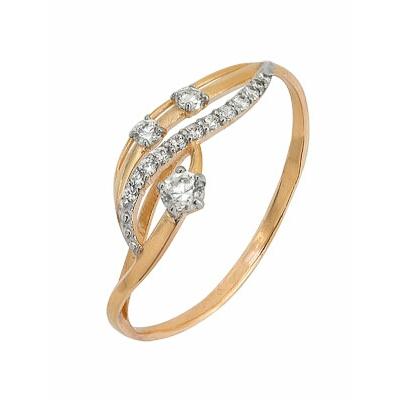 Золотое кольцо Ювелирное изделие A1200201599 кольца колечки кольцо тереза фианит