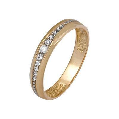 Золотое кольцо Ювелирное изделие A1200202459 кольца колечки кольцо тереза фианит