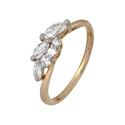 Золотое кольцо Ювелирное изделие A1200202570 кольца колечки кольцо тереза фианит