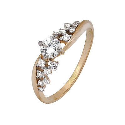 Золотое кольцо Ювелирное изделие A1200202577 кольца колечки кольцо тереза фианит