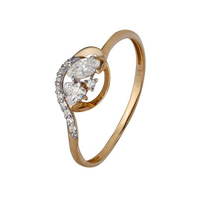 Золотое кольцо Ювелирное изделие A1200202924 кольца колечки кольцо тереза фианит