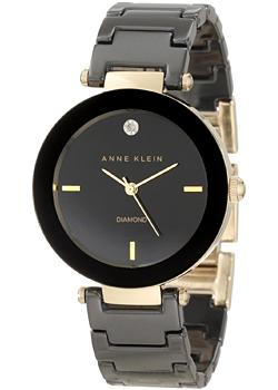 Anne Klein Часы Anne Klein 1018BKBK. Коллекция Diamond anne klein часы anne klein 1019wtwt коллекция diamond