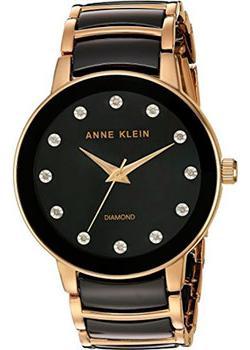 Anne Klein Часы Anne Klein 2672BKGB. Коллекция Diamond anne klein часы anne klein 2512gyrg коллекция diamond