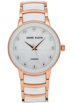 Anne Klein Часы Anne Klein 2672WTRG. Коллекция Diamond anne klein часы anne klein 2512gyrg коллекция diamond