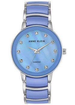 Anne Klein Часы Anne Klein 2673LBSV. Коллекция Diamond anne klein часы anne klein 2512gyrg коллекция diamond
