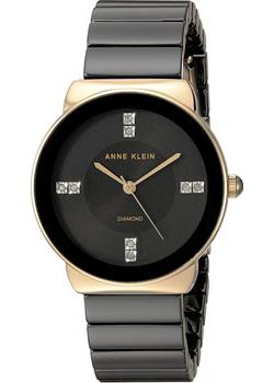 Anne Klein Часы Anne Klein 2714BKGB. Коллекция Diamond anne klein часы anne klein 1019wtwt коллекция diamond page 1