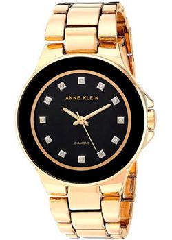 Anne Klein Часы Anne Klein 2754BKGB. Коллекция Diamond anne klein часы anne klein 2512gyrg коллекция diamond