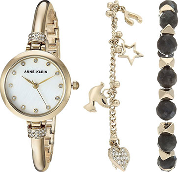 Anne Klein Часы Anne Klein 2840LBDT. Коллекция Crystal anne klein часы anne klein 2666rgbn коллекция crystal