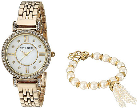 цена Anne Klein Часы Anne Klein 2928GBST. Коллекция Crystal онлайн в 2017 году