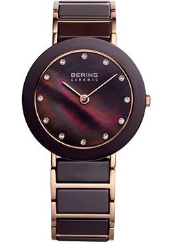 Bering Часы Bering 11435-765. Коллекция Ceramic unique handmade natural bamboo wood watch analog mens simple quartz wristwatch male genuine leather relogio masculino esportivo