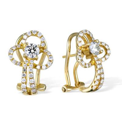 Золотые серьги Ювелирное изделие E00021086YG серьги jv золотые серьги с бриллиантами k910dwc4yt yg