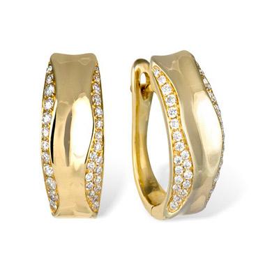 Золотые серьги Ювелирное изделие E00025380YG серьги jv золотые серьги с бриллиантами k910dwc4yt yg