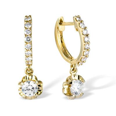 Золотые серьги Ювелирное изделие E00028328YG серьги jv золотые серьги с бриллиантами k910dwc4yt yg