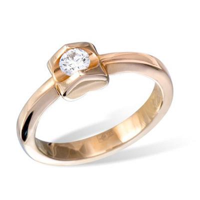 Золотое кольцо Ювелирное изделие K010722RG золотое изделие 375 пробы в украине