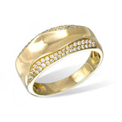 Золотое кольцо Ювелирное изделие K025379YG золотое изделие 375 пробы в украине