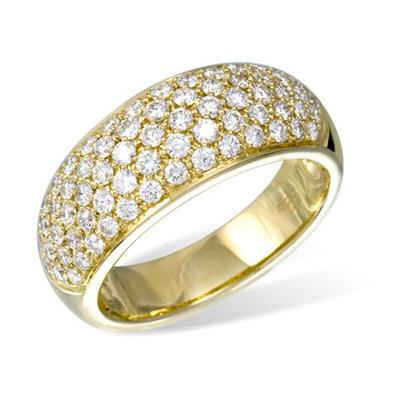 Золотое кольцо Ювелирное изделие K04877YG кольцо jv женское золотое кольцо с бриллиантами r39265 4 dn yg 17