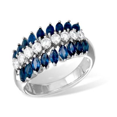 Золотое кольцо Ювелирное изделие K08442WGsap