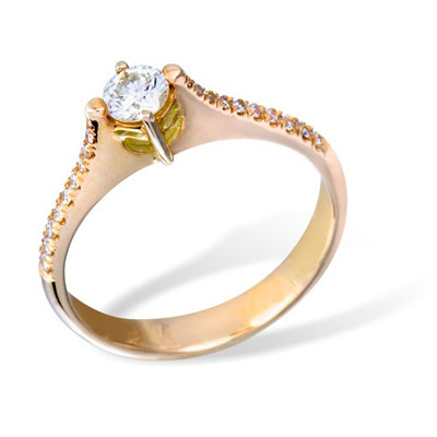 Золотое кольцо Ювелирное изделие K0856RG сотейник а пр 20 б кр pe3201 982950