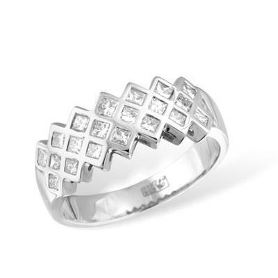 Золотое кольцо Ювелирное изделие KR02377WG золотое изделие 375 пробы в украине