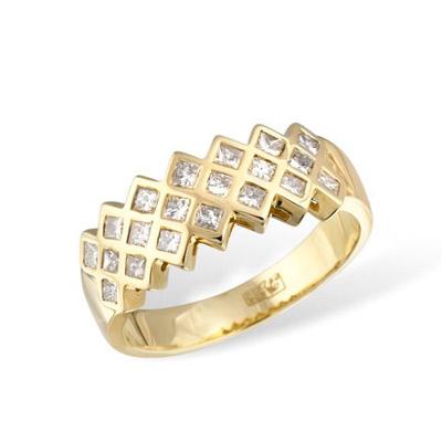 Золотое кольцо Ювелирное изделие KR02377YG золотое изделие 375 пробы в украине