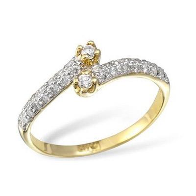 Золотое кольцо Ювелирное изделие KR02976YG золотое изделие 375 пробы в украине