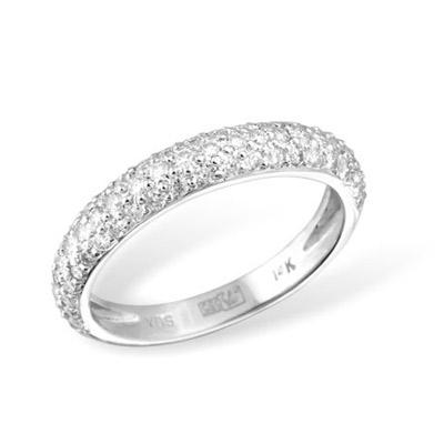 Золотое кольцо Ювелирное изделие KR02986WG золотое изделие 375 пробы в украине
