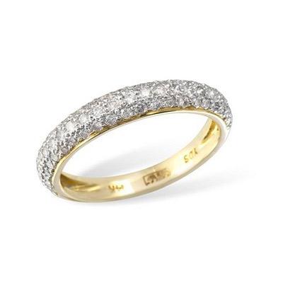 Золотое кольцо Ювелирное изделие KR02986YG золотое изделие 375 пробы в украине