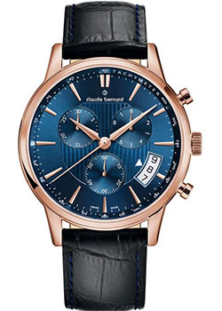 Claude Bernard Часы Claude Bernard 01002-37RBUIR. Коллекция Classic Gents Chronograph цена и фото