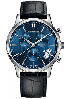 Claude Bernard Часы Claude Bernard 01002-3BUIN. Коллекция Classic Gents Chronograph женские часы claude bernard 10231 3buin