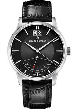 Claude Bernard Часы Claude Bernard 41001-3NIN. Коллекция Classic Gents Big Date Retrograde Day claude bernard часы claude bernard 64005 3nin коллекция classic gents