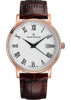 цена Claude Bernard Часы Claude Bernard 53007-37RBR. Коллекция Classic Gents Date онлайн в 2017 году