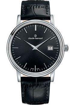 цена Claude Bernard Часы Claude Bernard 53007-3NIN. Коллекция Classic Gents Date онлайн в 2017 году