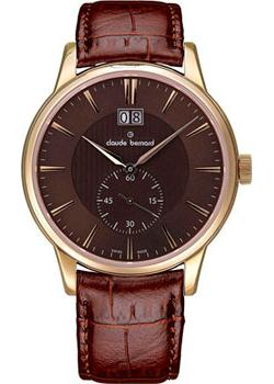 Claude Bernard Часы Claude Bernard 64005-37RBRIR. Коллекция Classic Gents Big Date Small Second