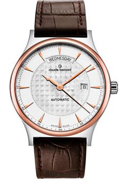 Claude Bernard Часы Claude Bernard 83014-357RAIR. Коллекция Classic Automatic day-date tevise automatic mechanical tourbillon watch men luxury auto date day month stainless steel mens wristwatch horloges mannen