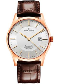 claude bernard 10216 3apn1 bernard Claude Bernard Часы Claude Bernard 84200-37RAIR. Коллекция Classic Gents quartz day-date