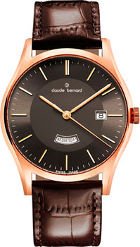 Claude Bernard Часы Claude Bernard 84200-37RBRIR. Коллекция Classic Gents quartz day-date