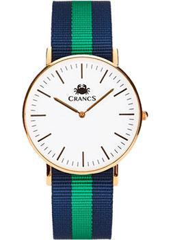 Crancs Часы Crancs 36GWG-Ny37. Коллекция Navy часы nixon time teller deluxe leather navy sunray brow