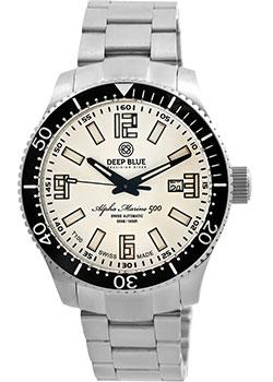 цена  Deep Blue Часы Deep Blue AMT100BLKWHT. Коллекция Alpha Marine T 100  онлайн в 2017 году