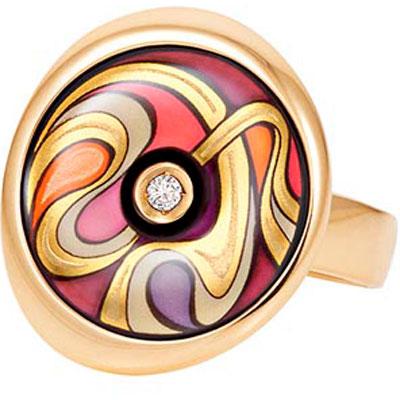 Золотое кольцо Ювелирное изделие AM-1412PS-452