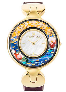 FREYWILLE Часы FREYWILLE CM_400HL1-11_GO1. Коллекция Посвящение Клоду Моне freywille цепочка омега