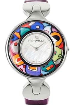 FREYWILLE Часы FREYWILLE HWW_800HL1-2_SV1. Коллекция Посвящение Хундертвассеру freywille цепочка омега