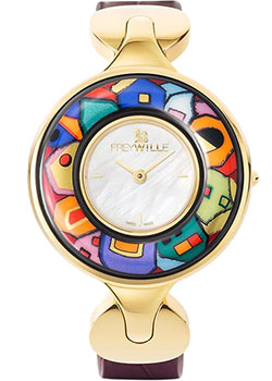 FREYWILLE Часы FREYWILLE HW_400HL1-2_GO1. Коллекция Посвящение Хундертвассеру freywille часы freywille pr 400hl1 2