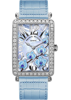 Часы Franck Muller Flower Collection 952_QZ_ORC_D_1R-white-gold-blue