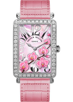 Часы Franck Muller Flower Collection 952_QZ_ORC_D_1R-white-gold-pink