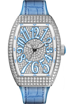 Часы Franck Muller Vanguard Lady V_32_SC_AT_FO_D_CD_BL-steel