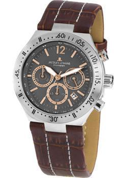 цена Jacques Lemans Часы Jacques Lemans 1-1837D. Коллекция Rome Sports онлайн в 2017 году