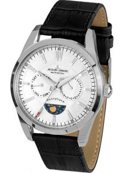 Jacques Lemans Часы Jacques Lemans 1-1901A. Коллекция Moonphase цена и фото